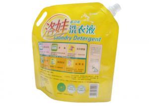 China 2kg Detergent Stand Up Pouches With Spout , PET / NY / PE Liquid Spout Bags on sale