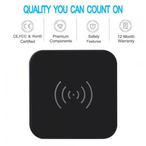 China 7.5w Universal Usb Power Adapter Qi Wireless Charge Pad With Anti Slip Rubber on sale