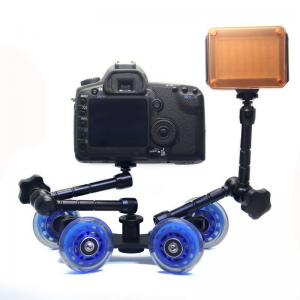 China Table Top Compact Dolly Kit Skater Wheel Truck for DSLR Camera Video Monitor   on sale