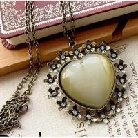 Vintage necklace heart TJ0076