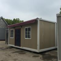 Traditional Frame Modern Prefab Steel Homes Fabrication With RW / EPS / PU Sandwich Panel