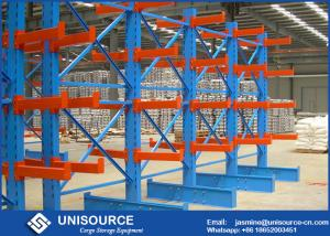 China Medium Duty Cantilever Racks For Lumber , Double Sided Cantilever Pipe Rack on sale
