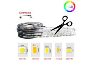 China High Bright 5M Ribbon Led Light Strip Flexible 12 Volt Led Tape Light Kit on sale