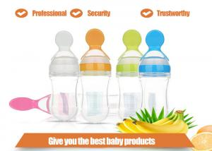 China Fashion Silicone Gift  , Creative Spoon feeding baby cereal bottle on sale