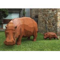 China Contemporary Outdoor Metal Sculpture , Corten Steel Rhino Sculpture / Statue on sale