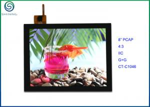 China Projected Capacitive Technology Touch Screen 8 4:3 G+G PCAP For Industrial Touch Monitor on sale