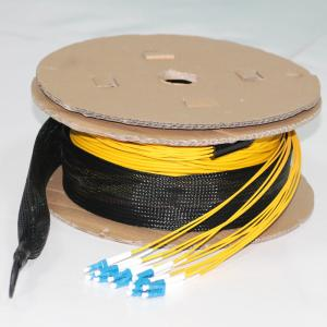 China 12 Cores Pre Terminated Fiber Optic Cable LC UPC To LC UPC Multimode OM3 Multiple on sale