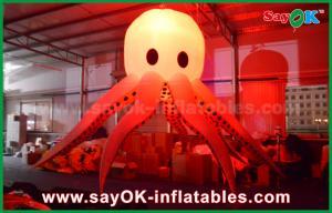 China Giant Inflatable Lighting Decoration Sea Animal Lighting Octopus / Devilfish on sale