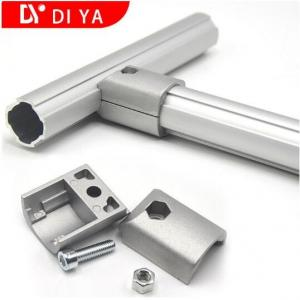 China Round Aluminium Extruded Profiles DY11 Industrial Aluminium Alloy Lean Tube on sale
