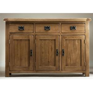 China Home Tall Solid Oak Storage Cabinet With Doors , Large Wooden Storage Cabinets on sale