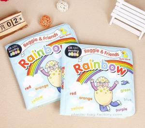 China Non-toxic Plastic Baby Bath Books Tearproof EVA Educational Waterproof Baby Books on sale