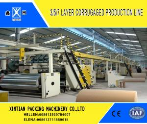China Corrugated Cardboard Carton Making Machine With A B C D E Flute 3 5 7 Layer on sale