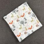 PVC pack cute prints airline swaddle blanket 100% cotton flannel baby receiving blankets wholesale soft textile blanket