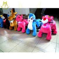 China Hansel  kids playground equipment helicopter zippy animal scooter rides animal kiddy rides ride on horse toy pony on sale