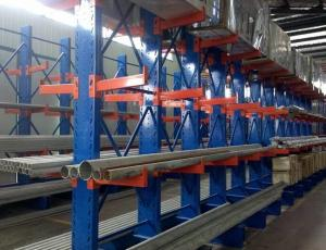 China Heavy Duty Warehouse Steel Storage Metal Arm Cantilever Pallet Rack for Pipes on sale