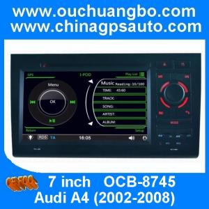China Ouchuangbo multimedia gps stereo navi for Audi A4 2002-2008 steering wheel control SD USB on sale