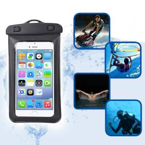 China Waterproof Dry Bag Cell Phone Waterproof Pouch With Lanyard Armband Strap For Kayaking Skiing Sledding Boating Surfing on sale