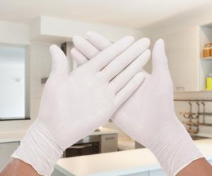 China Disposable Powder Free Latex Gloves / Highly Elastic Medical Grade Latex Gloves on sale