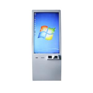 China Cinema / Restaurant Touch Screen Kiosk Systems With Barcode Scanner / Ticket Printer on sale