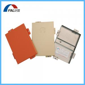 China Custom Made PVDF Coated Aluminum Single Panel For Facade Cladding on sale