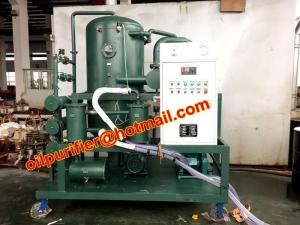 China High voltage transformer oil filtration plant factory price , high vacuum oil distillation, oil reprocessing machine on sale