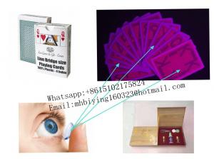 China Red Lion plastic marked cards for casino cheat/poker cheating device/invisible ink/contact lenses/magic trick/magic card on sale