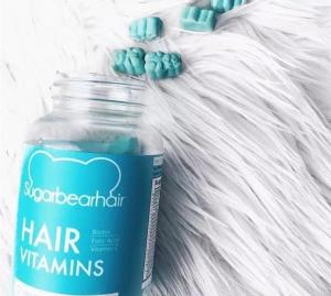 Quality sugar bear hair vitamins 60 Count (1 Month Supply) Gummy Bear Hair Growth for sale