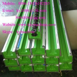 China Roller chain guide rails chain tensioners Plastic Chain guide wear strip, Linear guide rails on sale