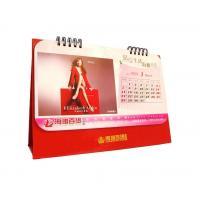 Red Color Professional Calendar Printing Department Store Calendar Logo Golden Stamped