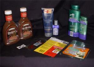 China PET Shrink Wrap Rolls Tamper Evident Labels for Seasoning / Milk Bottle / Cosmetic on sale