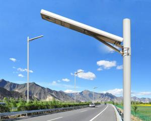 China Motion Sensor All In One Solar Street Light , Integrated Solar Led Street Light 15W 25W 30W on sale