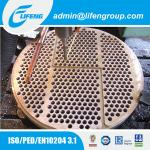 best manufacturer CNC machining fixed copper tubesheet drilling tube disc