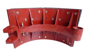 China Steady Friction Performance Ductile Cast Iron Casting Brake Shoe Assembly Heavy Truck Parts on sale