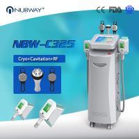 China Cryo +RF+ cavitation in one 5 handles Cryo fat freezing machine for Europe on sale