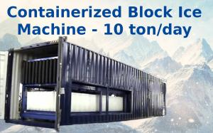 China Big Capacity Containerized Block Ice Machine Convenient Air Cooling 10t on sale