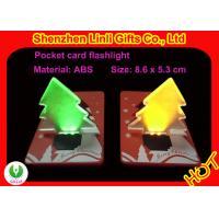 China Plastic, portable, Christmas tree shape and led credit card light LED flashing toys on sale