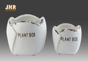 China Stoneware Flower Pots Mini Succulents Plant Pots Flower Shaped Flower Pots Ceramic Pots on sale