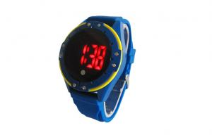 China Blue Water Resistant touch screen unisex led digital watch for Sports on sale