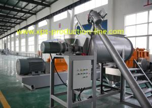 China Styrofoam Insulation Board Single Screw Extruder 150MM Water Jacket Cooling Type on sale