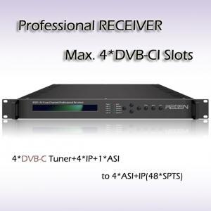 China RSR1114 Digital TV DVB-T2 Demodulator  professional IRD IPTV Headend 4*DVB-T2 Input 48*SPTS UDP/IP Output on sale