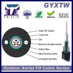 Armored Optical Fiber Cable Central Loose Tube PE GYXTW 4F-24F for Aerial Use