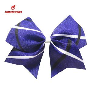 China Popular Ponytail Sublimation High School Cheer Bows With Clips Ribbon on sale