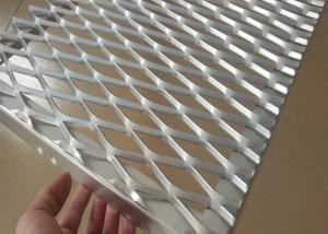 China Aluminum Expanded Metal Mesh , Metal Screen Facade For Architectural Declaration on sale
