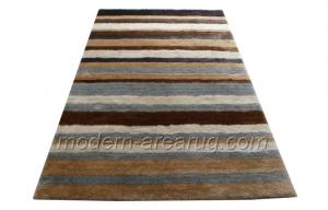 China Beige / Grey Polyester Contemporary Shaggy Rug, Modern Area Rugs For House Decoration on sale
