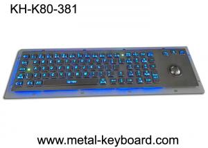 China Rugged Backlit Metal Keyboard with Ergonomics Design Trackbal , USB interface on sale