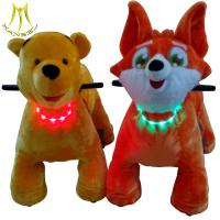 Hansel animal plush electric scooter and coin operated electric animals with walking toy unicorn for mall