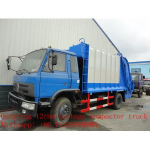 China dongfeng 12cbm garbage compactor truck for sale on sale