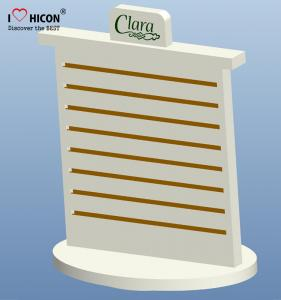 China Merchandising Pop Counter Display Racks , Slatwall Spinner Display Rack No Hooks on sale