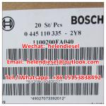 Genuine and New BOSCH injector 0445110335 , 0 445 110 335 , 0445110 335 , 1100200FA040 JAC original, exchange 0445110512