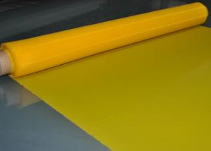 Quality Yellow 48T Polyester Screen Printing Mesh For Glass Printing , 70 Micron for sale